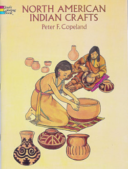 North American Indian Crafts Coloring Book