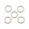 "6mm Twisted Round Silver-Plated (16 gauge) ""O"" RINGS (no opening)"