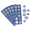 "3/4"" to 1 ¼"" Prism Metallic *Snowflake*  STICKERS"