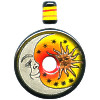 40mm Hand Painted Peruvian Ceramic *Sun & Moon* DONUT Pendant Set
