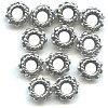3x6mm Lead-Safe Antiqued Pewter Studded Rope DISC / SPACER Beads