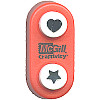 "McGill Creativity® 3/8"" dia. Two-In-Once Mini *Heart & Star* Paper PUNCH"