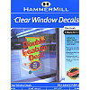 "HammerMill® (10009-0) 8.5"" x 11"" Inkjet Repositional Clear WINDOW DECAL Paper"