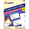 "Avery® (5388) 3"" x 5"" Single-Panel  Laser INDEX CARD Paper - White"