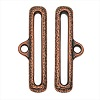 TierraCast Antiqued Copper Plated 31mm Hammered Design RIBBON END BAR TIPS