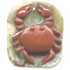 11x32x38mm Red River Jasper Carved CRAB Focal / Pendant Bead