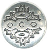 22mm *Vintage* Antiqued Nickel Silver Southwest Style (Rivet-Back) CONCHO, RIVET, SPOT Component