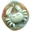 12x28x42mm Succor Creek Jasper Carved CRAB Focal / Pendant Bead