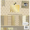 "DCWV® 48/Sheets 12""x12"" Premium Gilded Paper Stack SCRAPBOOK PAPER Assortment"