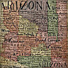 Stamping Station® 12x12 *Arizona Map* Patterned SCRAPBOOK PAPER