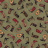 Creative Imaginations® 12x12 *Cowboy Boots* Patterned SCRAPBOOK PAPER