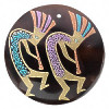 52mm Kokopelli Black Pen Shell Disc Focal/Pendant