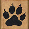 "Comotion® 1-5/8"" x 1-5/8"" *Dog Paw Print* Wood Block Mounted RUBBER STAMP ~ Circa 1985"