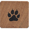 "Comotion® 3/4"" x 3/4"" *Mini Dog Paw Print* Wood Block Mounted RUBBER STAMP"