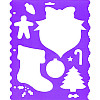 "9"" x 11.5"" Shape Templates & Border Edger STENCIL: Christmas Holiday"