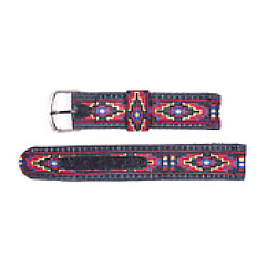 "1/2""  Woven Cloth Western Red Diamond WATCH BAND Set"