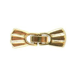 "1-1/2"" Antiqued Goldtone Pewter 3-Hole Southwestern Scallop Snap-Lock CLASP"