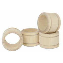 "1-1/4"" x 1-11/16"" Wood NAPKIN RINGS - Unfinished"