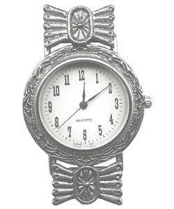 3-Piece Antiqued Silvertone Southwestern *Beadable* WATCH KIT